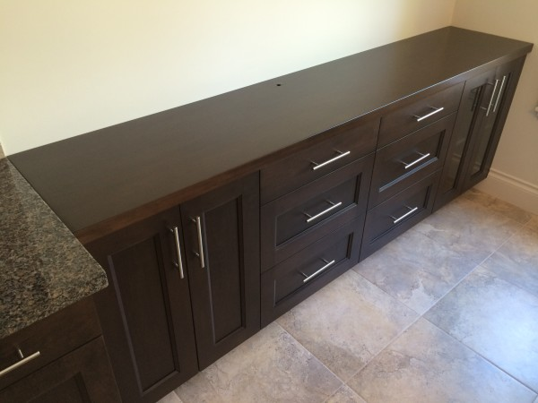 Kitchen cabinet extension.